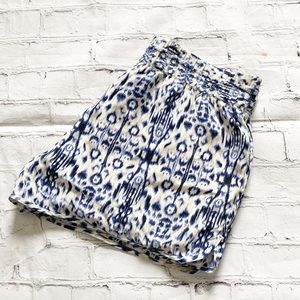 Joie Blue Cream & White Water Color Flowy Shorts